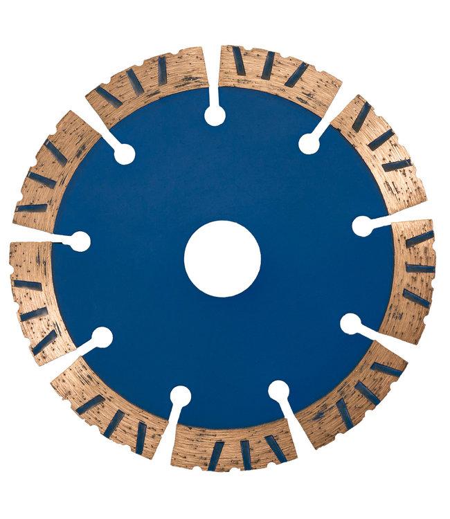 Pristis Diamantzaag-125/22,2x1.9mm/8x12.0 segm. W-Turbo Speed donker Blauw THIN