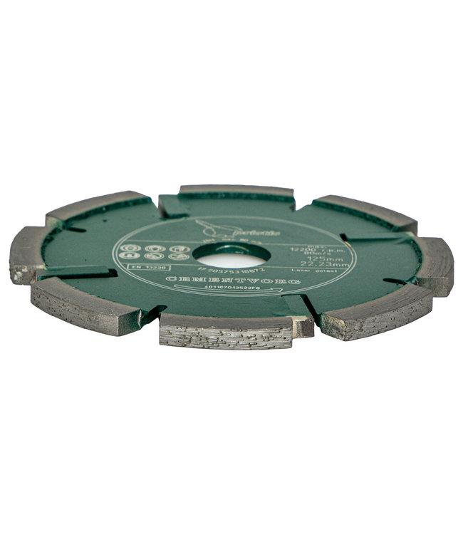 Pristis Diamantzaag-125/22,2x6,0mm Pristis Cementvoegenfrees slijtvast groen