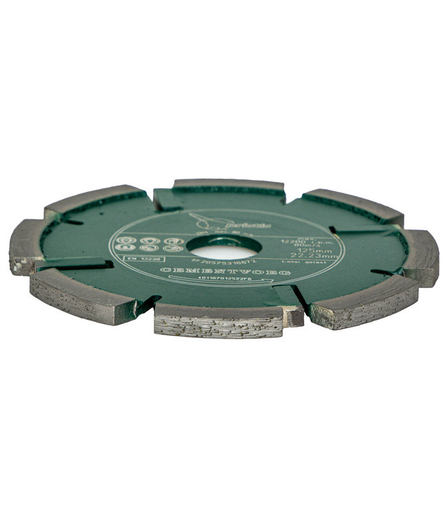 Pristis Diamantzaag-125/22,2x8,0mm Pristis Cementvoegenfrees slijtvast groen