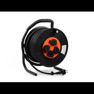 Kabelhaspel 40 meter wattPro EZ Winder 40 mtr neopr3x2,5qmm ZWART