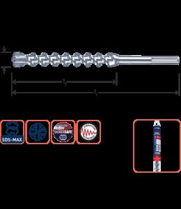 Rotec SDS MAX 20 x 600/720 SDS-MAX-aansluiting hamerboor 4 snijder