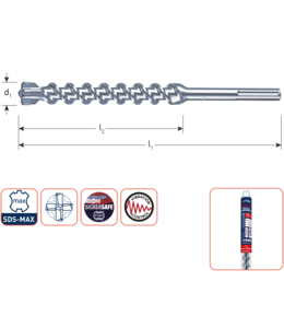 Rotec SDS MAX 16 x 400/540 SDS-MAX-aansluiting hamerboor 4 snijde