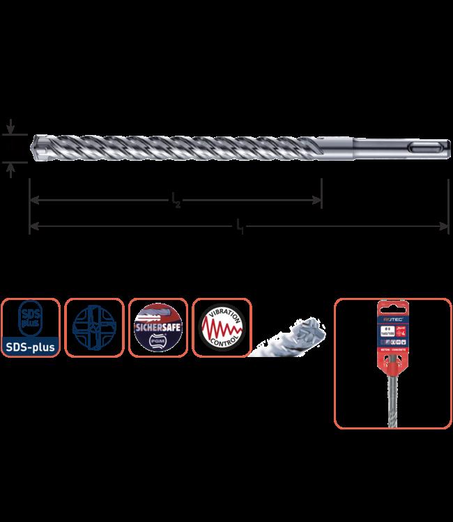 Rotec SDS+4 10x100/160mm S4 hamerboor 4-snijder