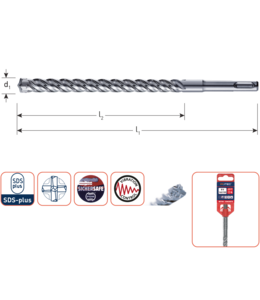 SDS+4 25x200/250mm S4 hamerboren 4-snijder
