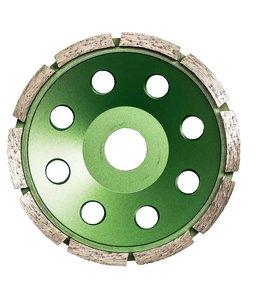 Pristis 125/22,2mm Pristis komschijf 1 rij seg metallic groen(10+10)