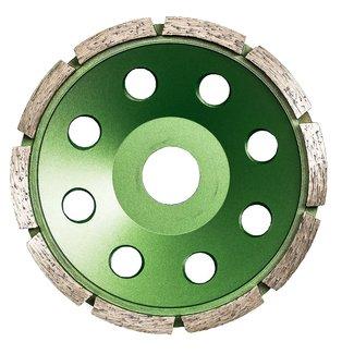 Pristis 125/22,2mm Pristis komschijf 1 rij segm. metallic groen (10)