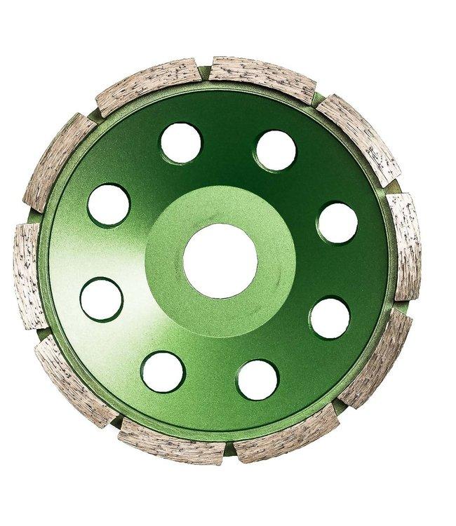 Pristis Diamant komschijf - 125/22,2mm Pristis komschijf 1 rij segm. metallic groen (10)