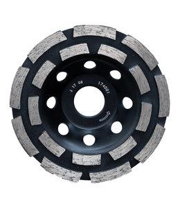 Pristis 115/22,2mm Pristis komschijf 2 rij segmenten Zwart Uni(9+9)