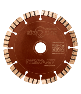 ZBM Diamond Tools 150/22.2mm Turbo-Jet  Laser Kalkzndst. HogeDruk Bruin-Oranje