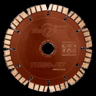 ZBM Diamond Tools 150/22.2mm Turbo-Jet  Laser Kalkzndst. HogeDruk Bruin-Oranje