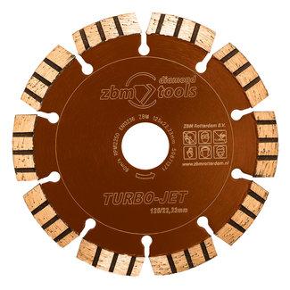 ZBM Diamond Tools 125/22.2mm Turbo-Jet  Laser Kalkzndst. HogeDruk Bruin-Oranje