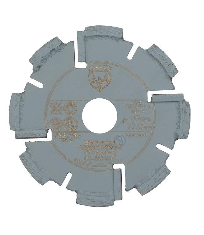 Pristis 115/22,2x8,0mm Pristis Hard zachte cementvoegzaag grijs