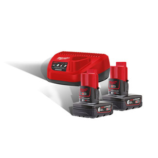 Milwaukee Accu Milwaukee M12NRG-602 / 2 x 12,0V 6,0Ah Li-Ion + Lader