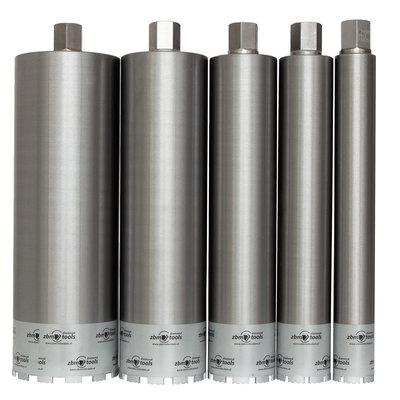 Dunwandige segmentboren  Ø50-Ø180mm  5/4UNC AANSLUITING