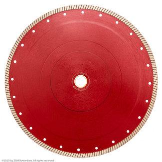 Pristis 350/30/25,4mm x 2,2mm Gres-Turbo keramiek/graniet Rood