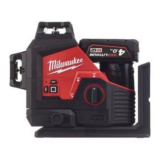 Milwaukee Milwaukee M12 3PL-401C driedimension. laser/3 groene cirkels