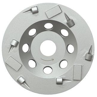 Pristis 125/22,2mm Pristis komschijf  combi PKD / diamant zilver