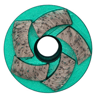 Pristis 050/M14 Pristis komschijf waaier segmenten metallic groen