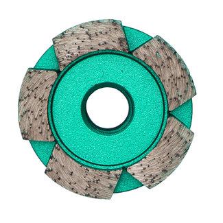 Pristis 050/M14 Pristis komschijf 1 rij segmenten metallic groen