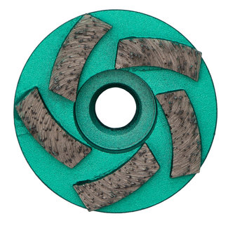 Pristis 060/M14 Pristis komschijf waaier segmenten metallic groen