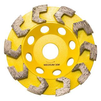 Pristis 125/22,2mm Pristis komschijf haaksegmenten geel