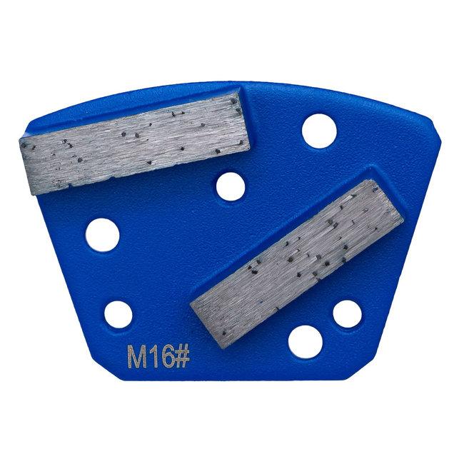 Pristis   Blastrac Schuurwings Medium #16/18 Blastrac Blauw 3xM6+3xpingat