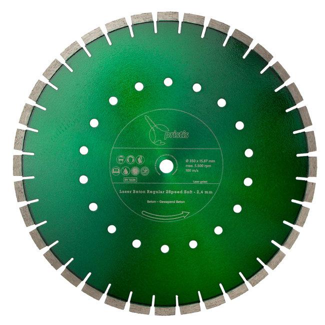 Pristis 350/15,88mm Pristis Beton Regular 2Speed Met. groen 2,4mm