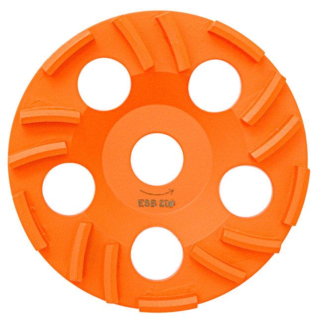 Pristis 125/22,2mm Pristis komschijf Thermo-Jet beton oranje ES