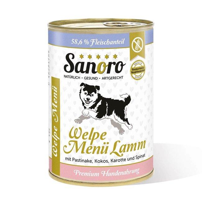Welpe Menü Lamm  mit Bio-Pastinake, Bio-Kokosflocken und Bio-Karotte