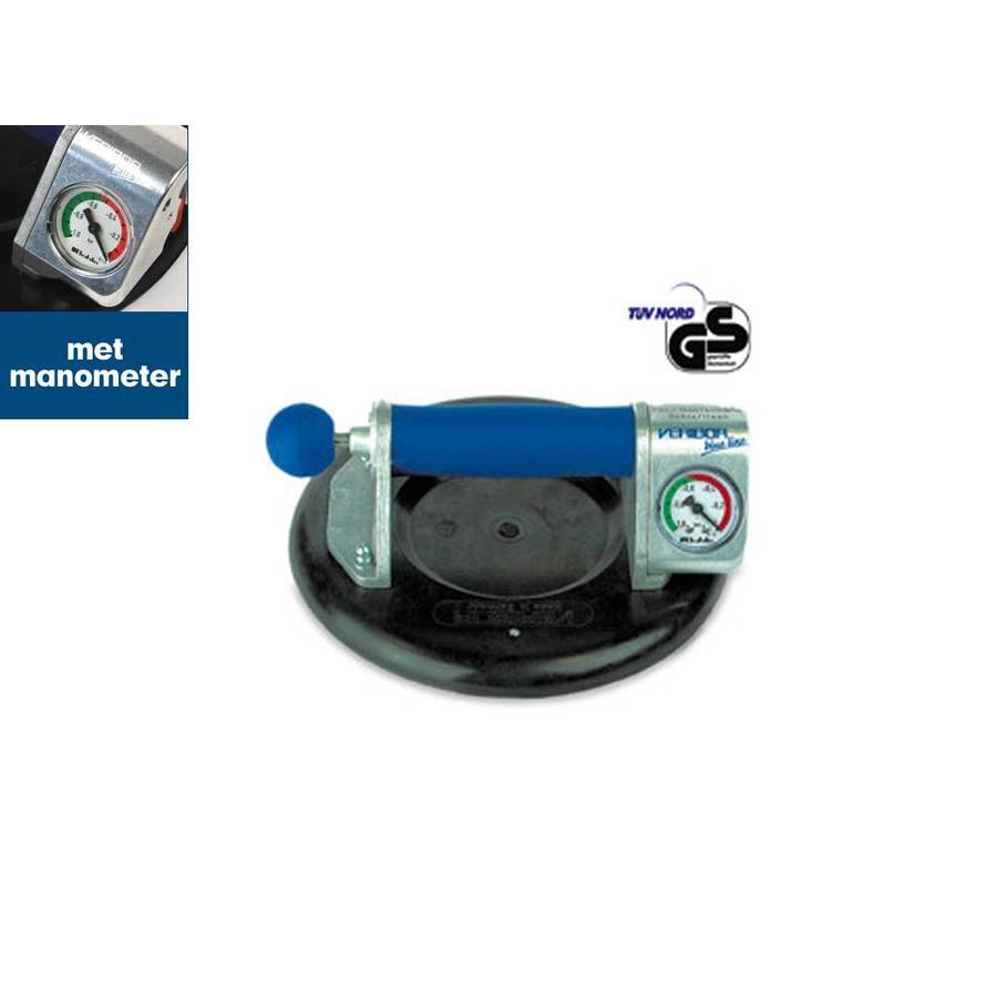 Pompzuiger met manometer BO601.1BL, aluminium, 120 kg
