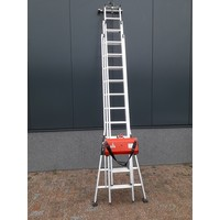 Laddertakel met multi functionele ladder 2 of 3 delig