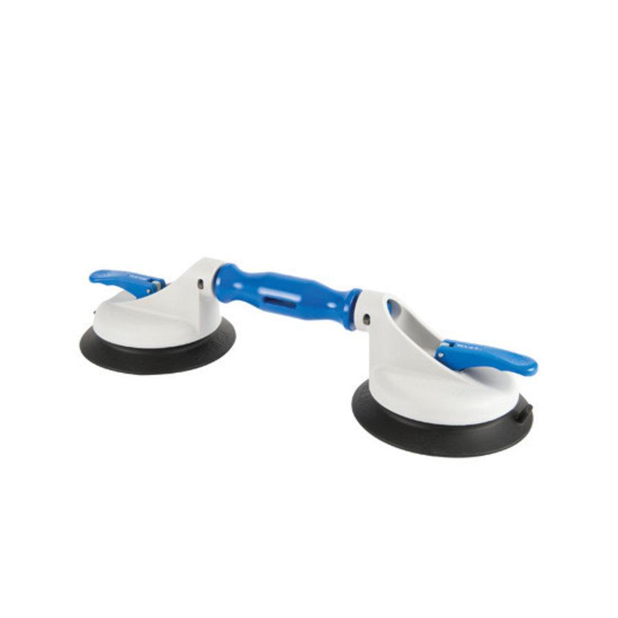 Ventouse à 2 têtes articulées en plastique et grand disque de succion BO 602.3G