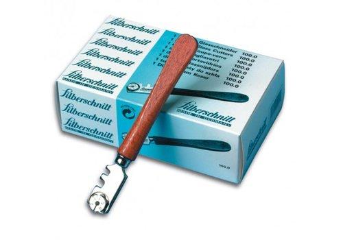 Silberschnitt glassnijder met houten heft (Doos met 12 stuks) BO 100.0