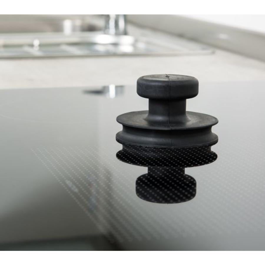 rubber glasdrager met knopgreep (BO 609.0)