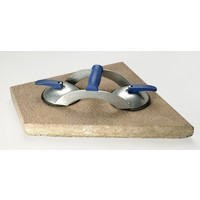 Blue Line 2-naps aluminium glasdrager met dwarsgreep (BO 602.0BL)