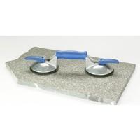 Blue Line 2-naps aluminium glasdrager met lengtegreep (BO 602.42BL)