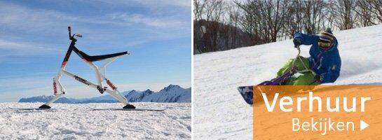 Huur skibike snowbike en snowscoot