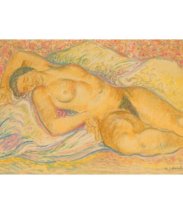 Henricus Schoonbrood, reclining nude
