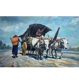 Fraai Indonesisch olieverf schilderij door Sumardi