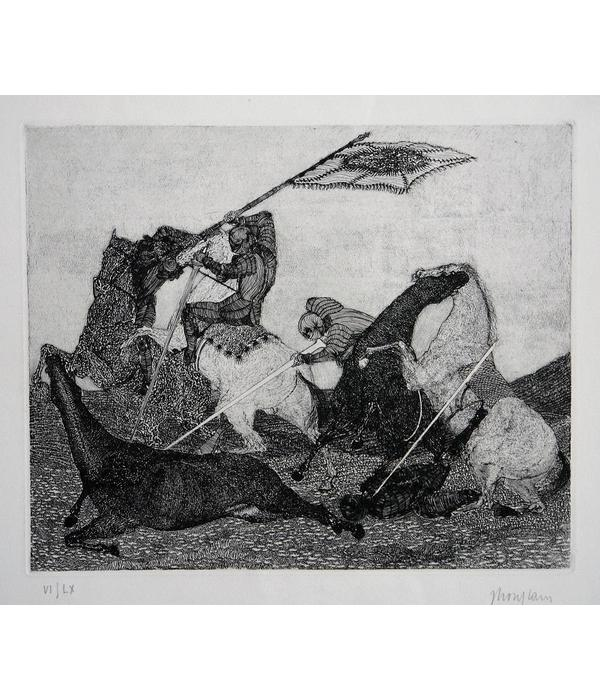 For sale, beautiful etching by French master Jacques Houplain