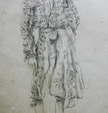Potloodtekening, 'Manolete' beroemd stierenvechter door Willem Wagenaar