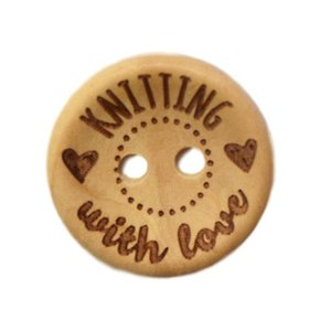 Houten knoop - Knitting with love - 20 mm
