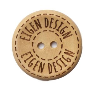 Houten knoop - Eigen design - 30 mm