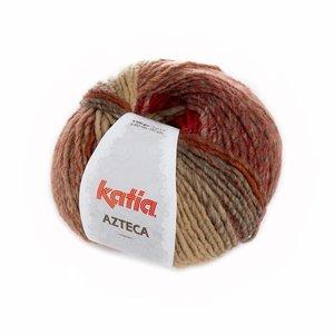 Katia Azteca oranje-rood-beige (7806)