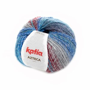 Katia Azteca blauw-groen-wijnrood (7853)