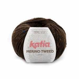 Katia Merino Tweed donkerbruin (408)