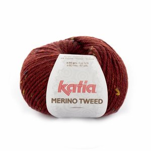Katia Merino Tweed wijnrood (407)