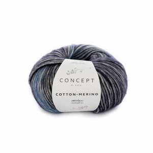Katia Cotton-Merino plus blauw (205)