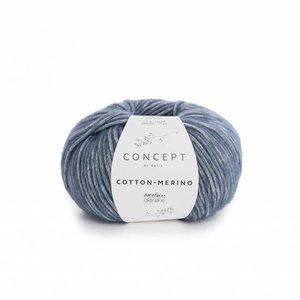 Katia Cotton-Merino blauw (115)
