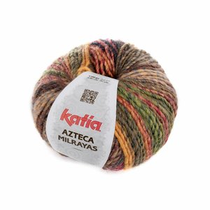Katia Azteca Milrayas Wijnrood/oker/oranje/rood (711)